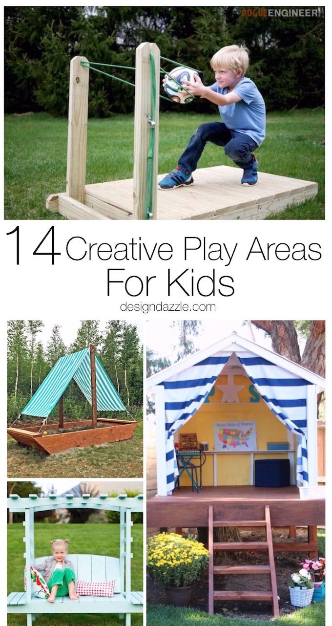 Here are 14 extremely creative and fun play areas for your kids that will sure t...