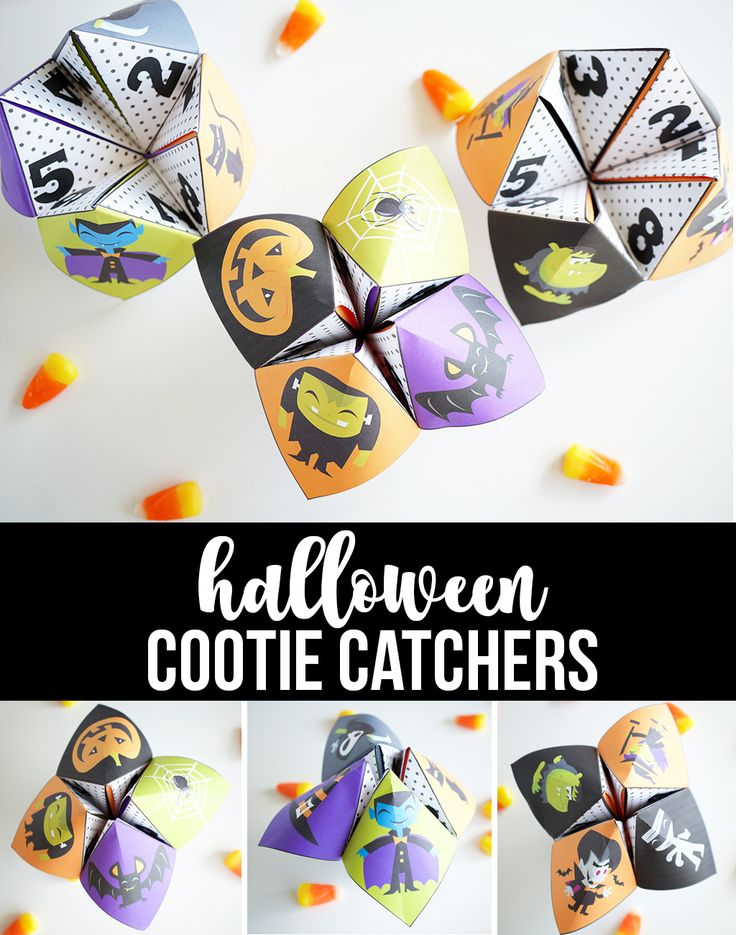 Hilarious Halloween Cootie Catchers - 3 different designs with 8 funny Halloween...