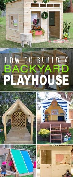 How to Build a Backyard Playhouse! • Tons of great tutorials! • Learn how to...