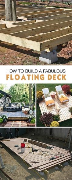 How to Build a Fabulous Floating Deck • Ideas, tips and tutorials! #floatingde...