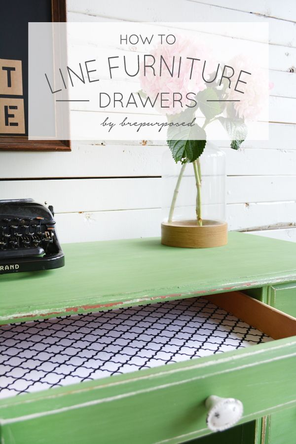 How to Line Furniture Drawers - brepurposed