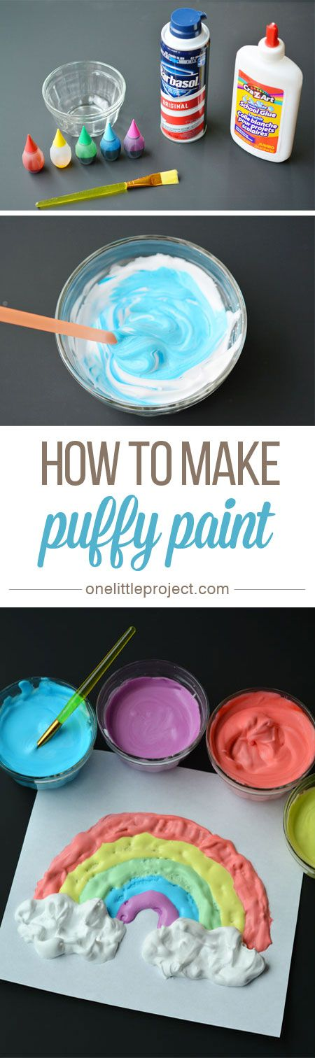 How to Make Puffy Paint - This was such a fun and EASY craft for the kids to do!...