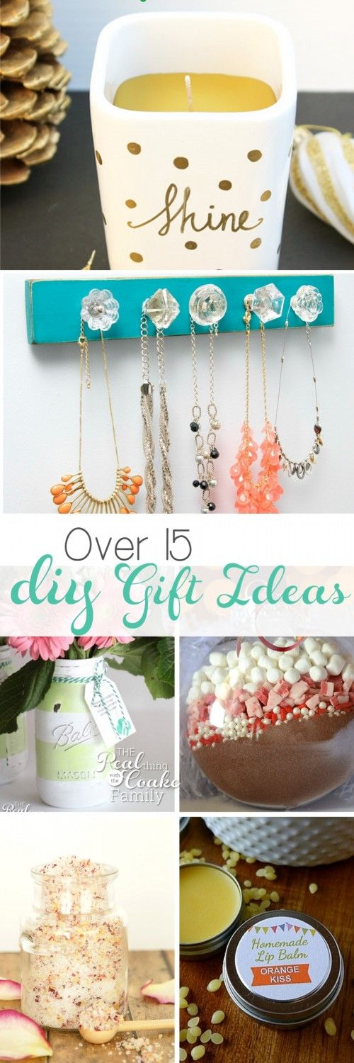 There are more than 15 DIY gift ideas. Most of them are quick, inexpensive and e...