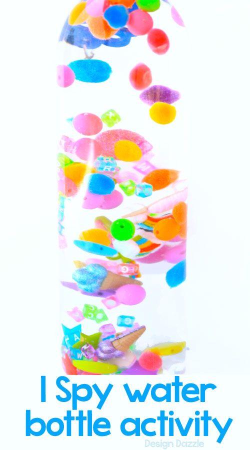 I spy sensory water bottle craft- Design Dazzle