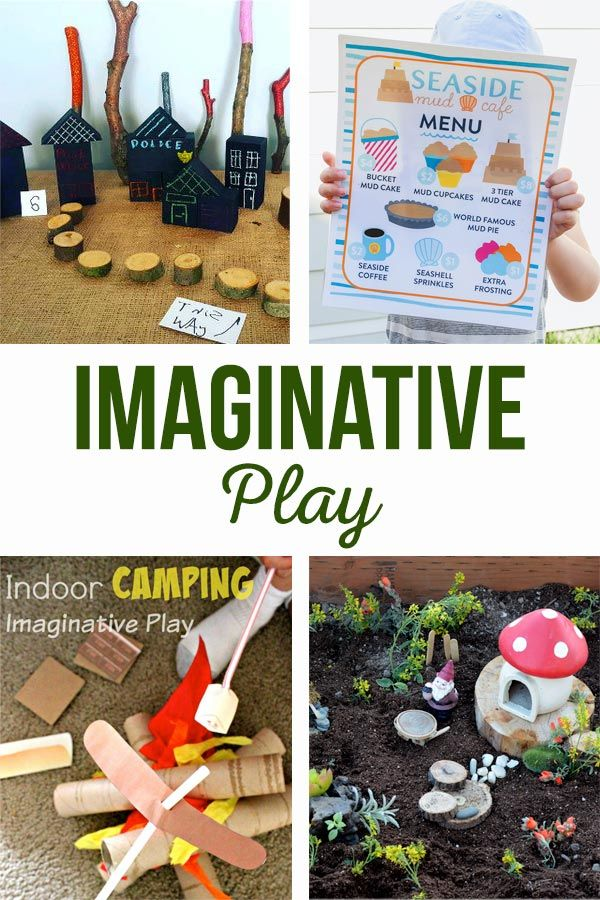 Imaginative Play   Activities and free printables to get your kids using their i...