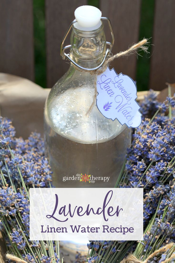 Lavender Linen Water Recipe and Printable Label - All-natural ingredients mean t...