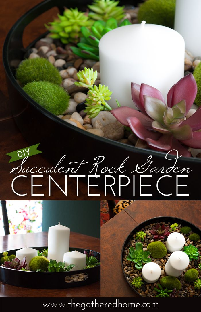 Learn how to create a soothing succulent rock garden centerpiece - inspired by a...