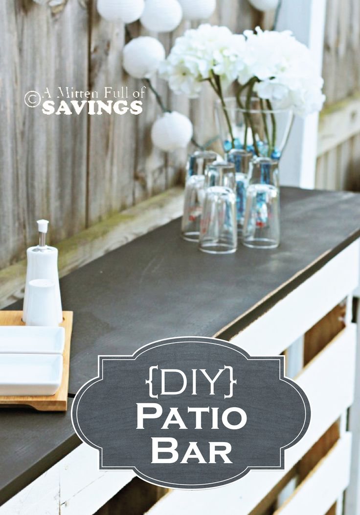 Learn how to create an outdoor Patio Bar out of wood pallets for summer entertai...