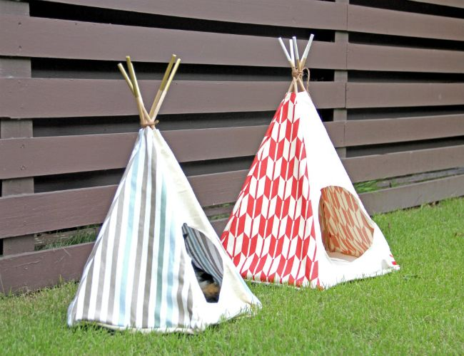 Make a shady outdoor spot for your pets with this DIY outdoor pet teepee