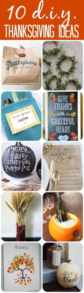 Must pin!  10 Inspiring DIY Thanksgiving Crafts!  #thanksgivingcrafts #thanksgiv...