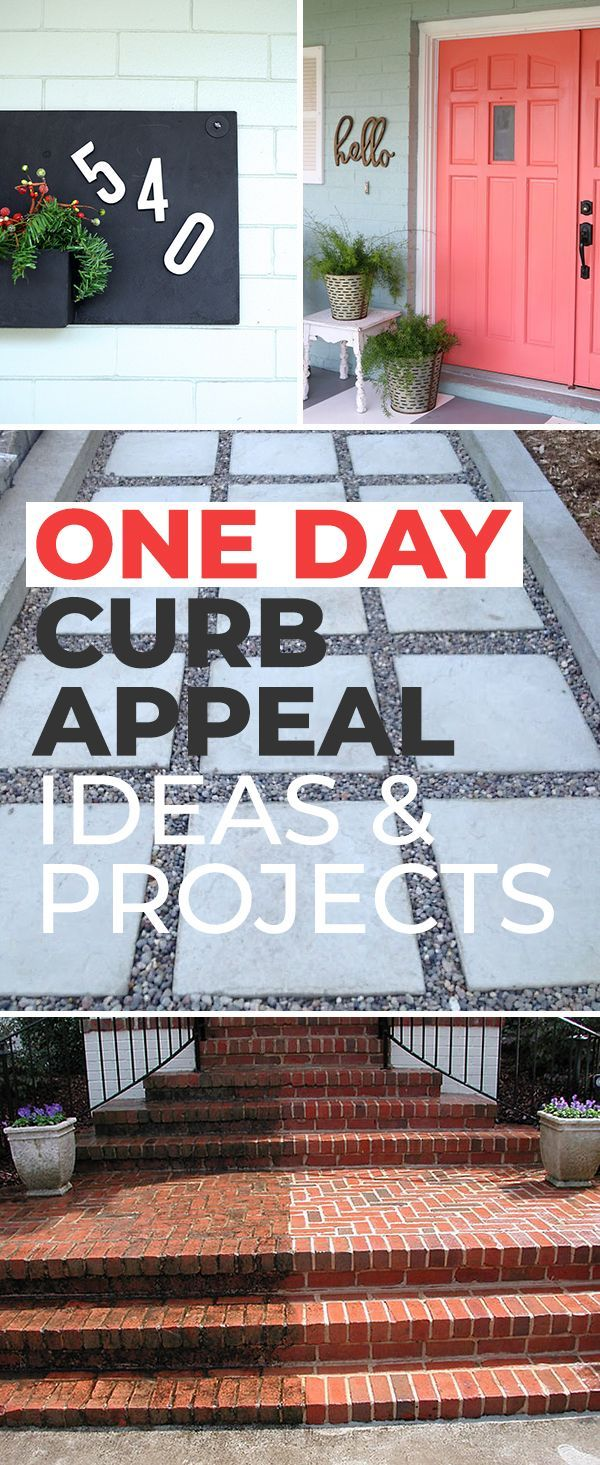One Day Curb Appeal Ideas & Projects! • See how easily you can make your home ...