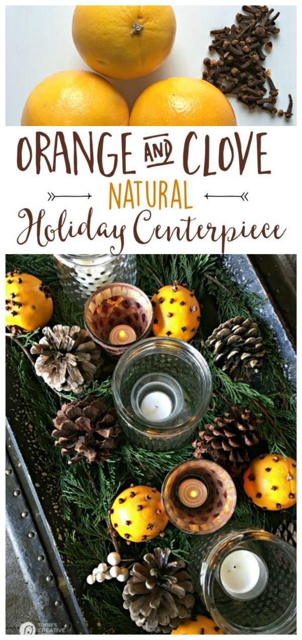 Diy Crafts Orange Clove Natural Holiday Centerpiece Easy Holiday