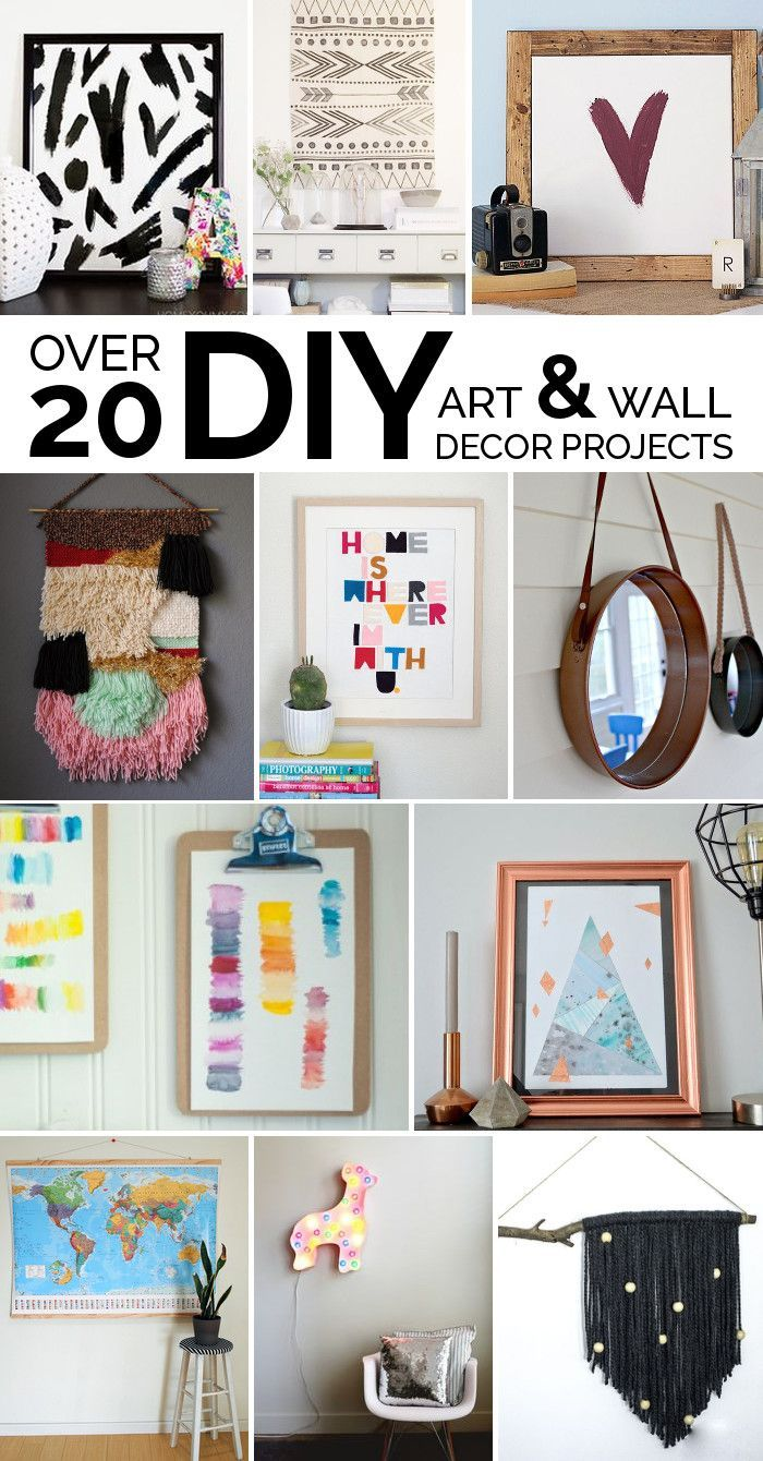 Over 20 DIY Art & Wall Decor Projects