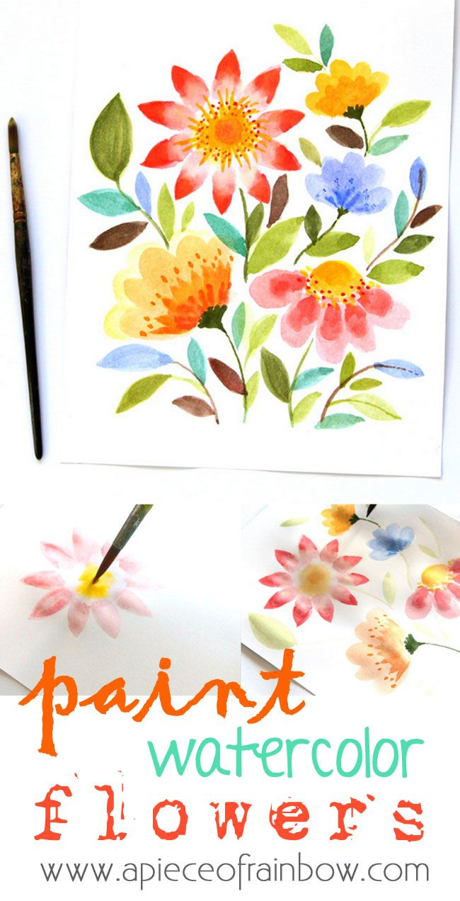 Paint Watercolor Flowers in 15 Minutes with this detailed tutorial! | A Piece of...