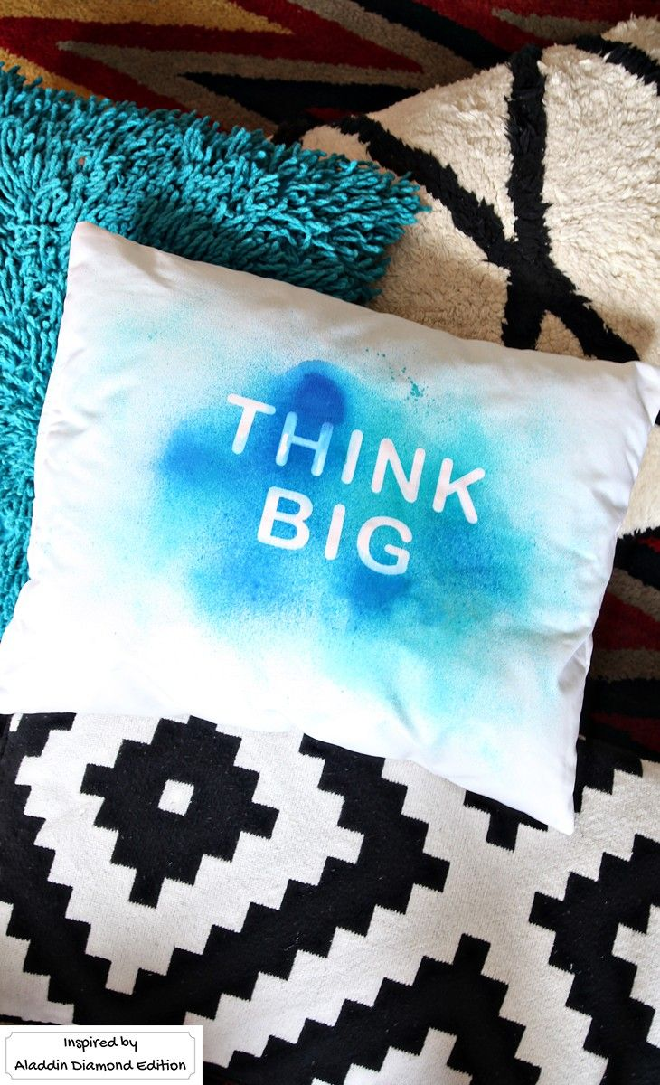 Pick your favorite girl power quote and put it on a pillow. All you need is spra...