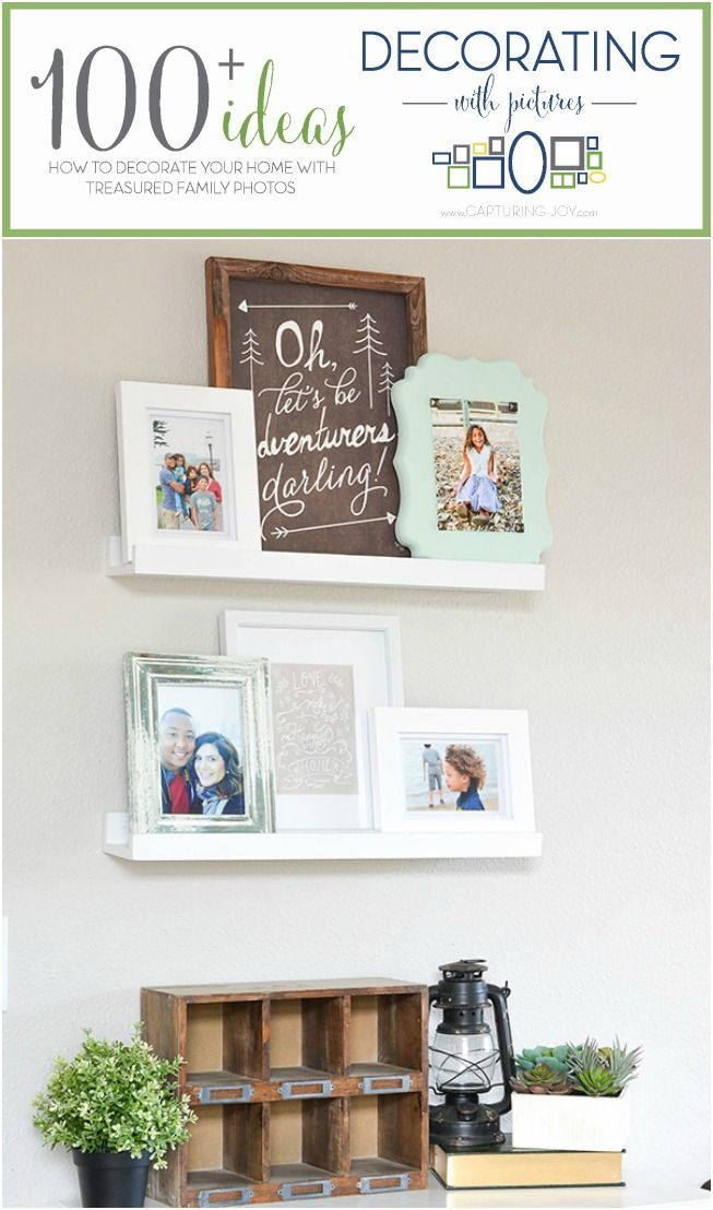 Picture Ledge Home Decor idea. Display photos and change them easily without put...