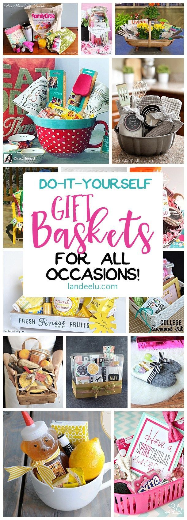 Put together a gift basket for any occasion and make someone's day! Easy do it y...