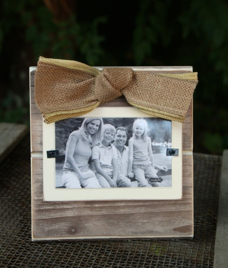 Rustic Frame With Burlap