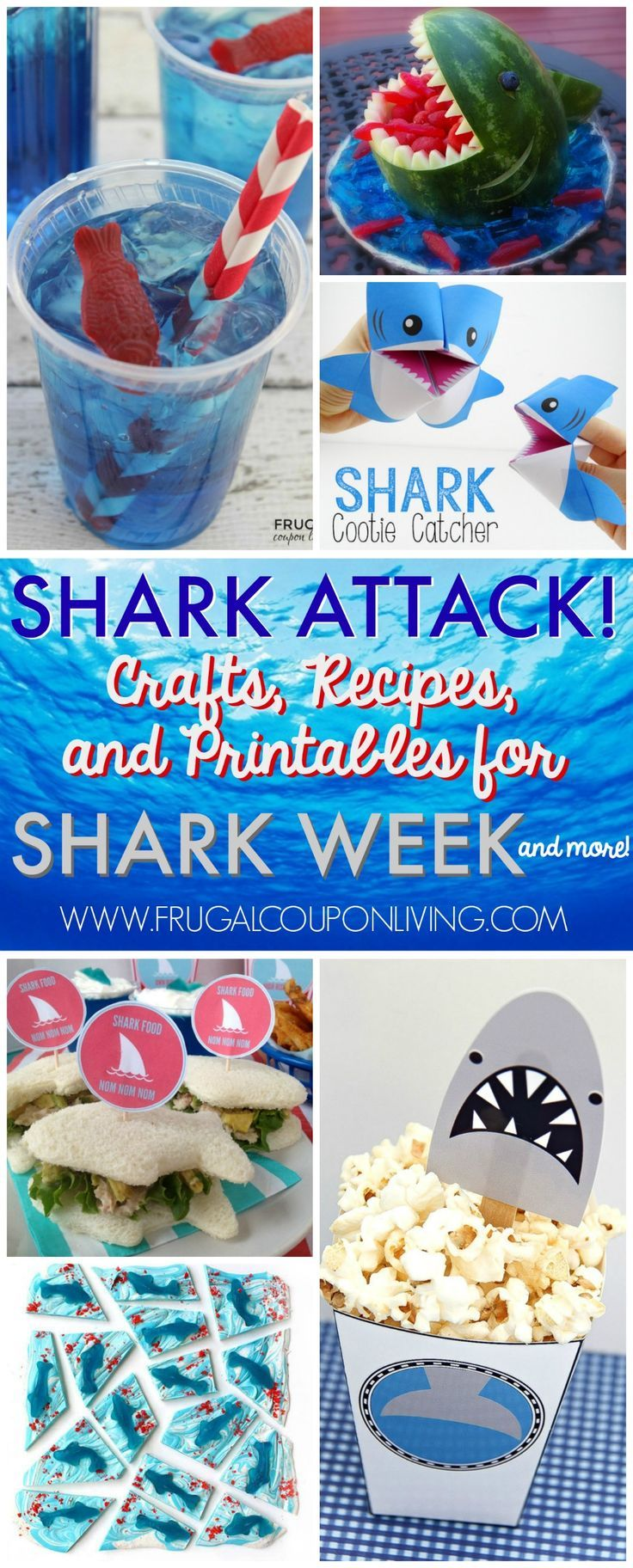 Shark Week Ideas for Kids on Frugal Coupon Living. Planning a shark party, don't...