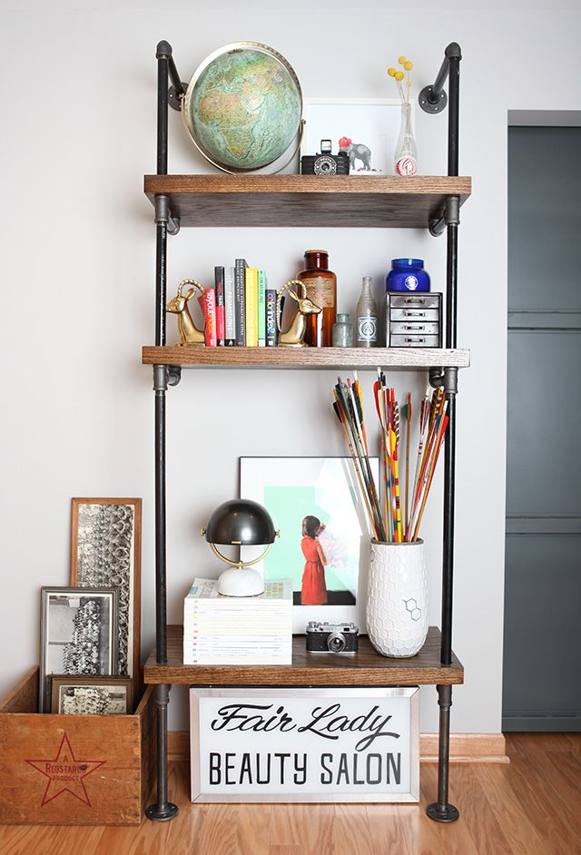 Step by step tutorial on how to build a pipe shelf — DIY - HOUSE OF HIPSTERS