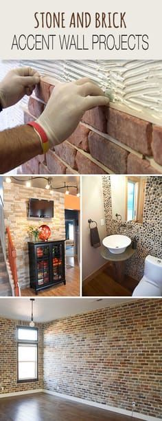 Stone and Brick Accent Wall Projects • Tips, Ideas & Tutorials! • Explore ou...