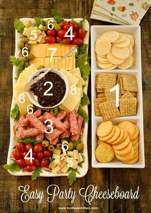 Take a look at this Easy Party Cheeseboard Idea. Party and Hosting Tips and Hack...