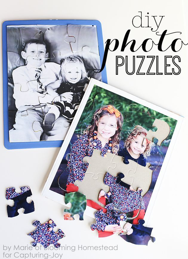 These DIY Photo Puzzles are such a fun way to preserve memories and they make a ...