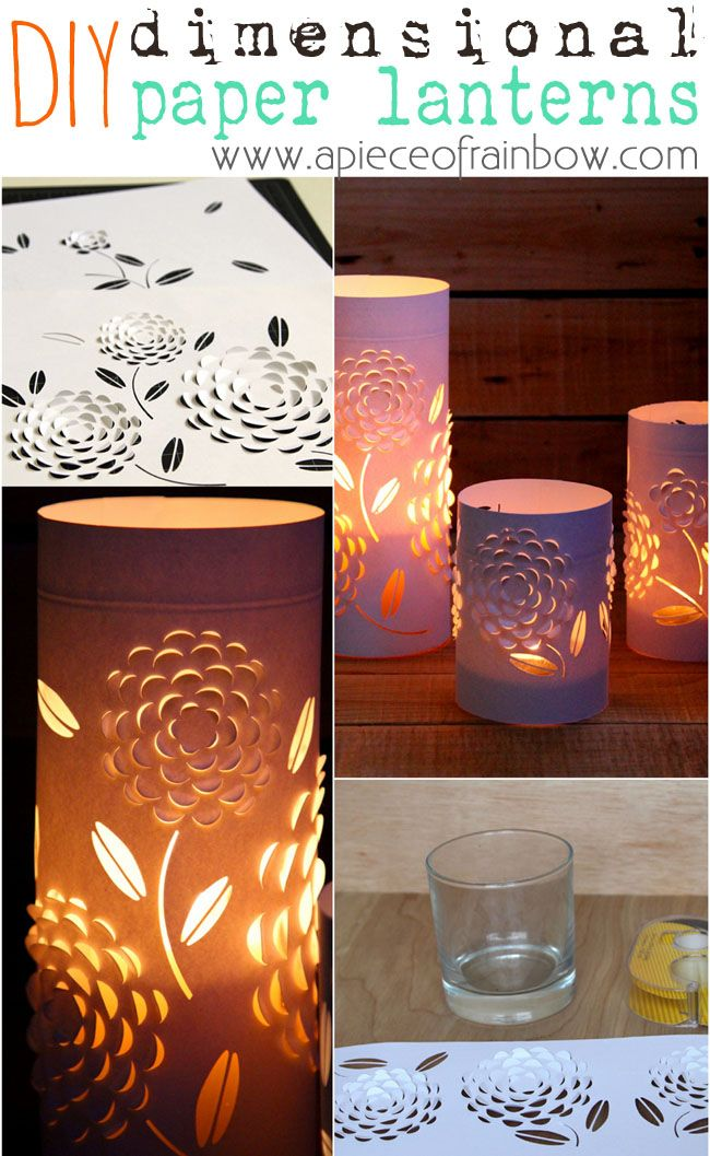 These beautiful Dimensional Paper Lanterns are made with 3 things EVERYONE has! ...