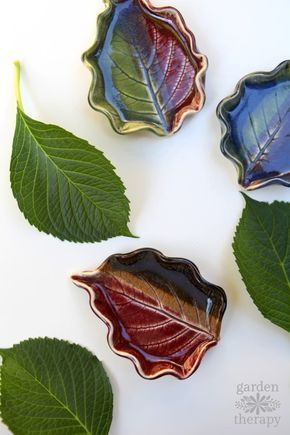 These clay leaf dishes are project you can do anytime throughout the year. Head ...