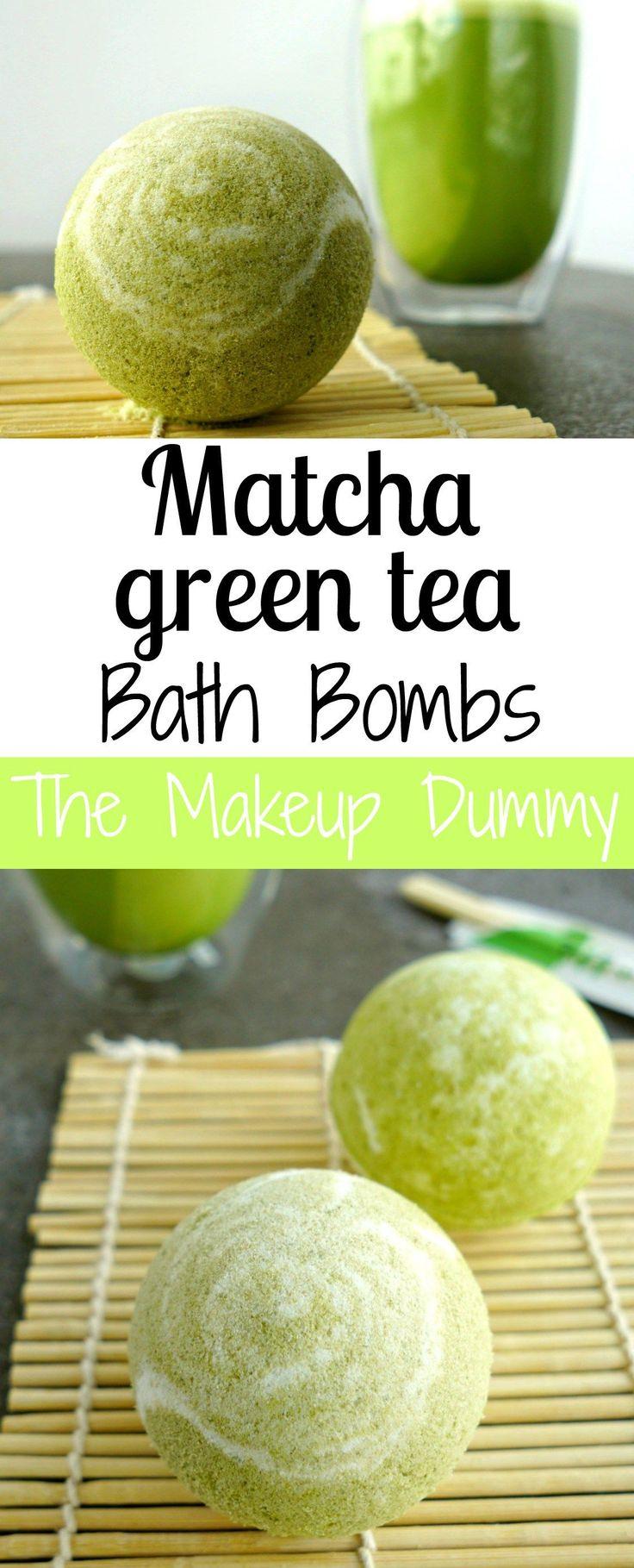 These look AMAZING! How To make your own DIY Matcha Green Tea Bath Bombs! Tutori...