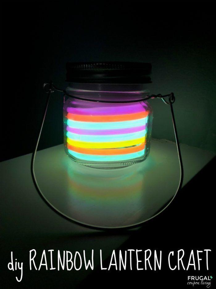 Diy Crafts This Glow In The Dark Rainbow Lantern Craft Has Easy
