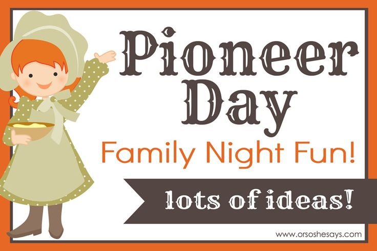 This month in Utah, they will be celebrating Pioneer Day on July 24th. It's ...