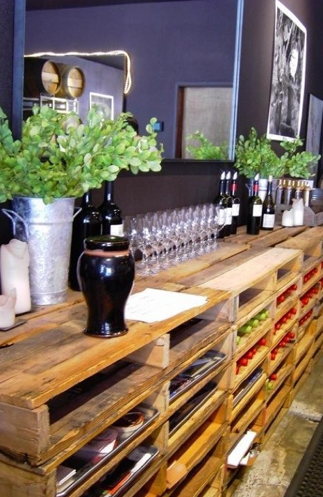 This site has incredible ideas for using old pallets for storage and home decor....