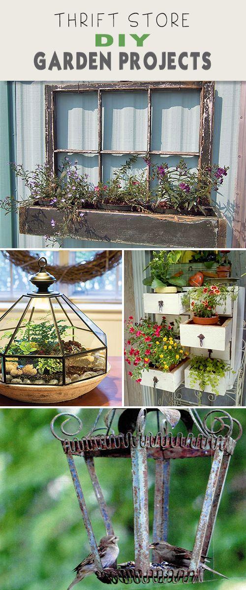 Thrift Store DIY Garden Projects! • Creative ideas, projects & tutorials! Turn...