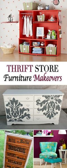 Thrift Store Furniture Makeovers • Tutorials for transforming old thrift store...