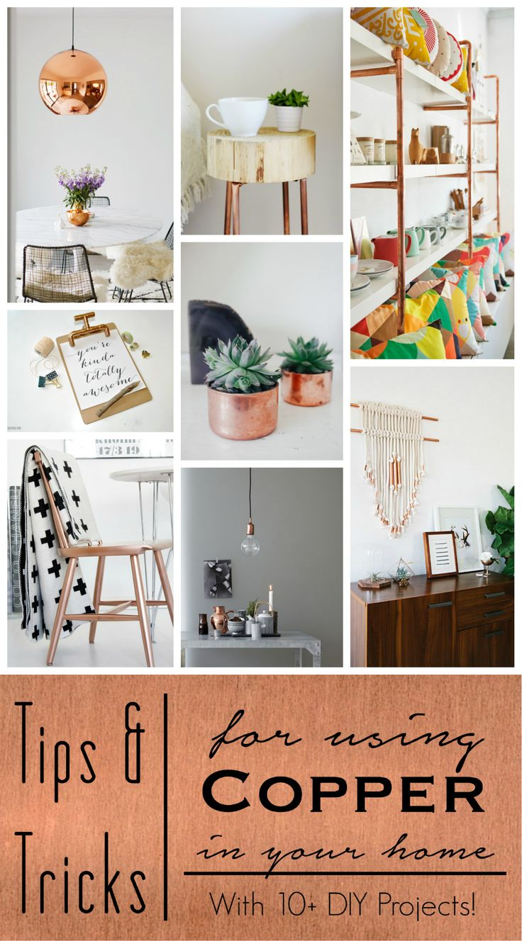 Tips and Tricks for using #Copper in your home. Including links to 10+ #DIY proj...