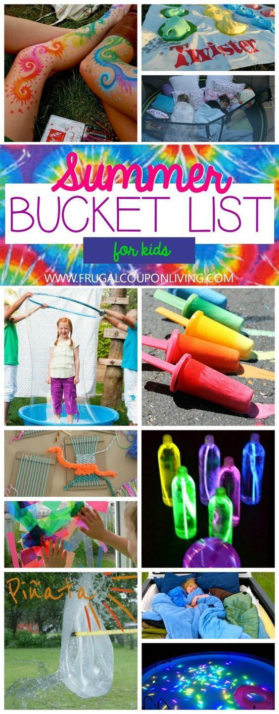 Visual Summer Bucket List for Kids on Frugal Coupon Living - Crafts, DIY, Activi...
