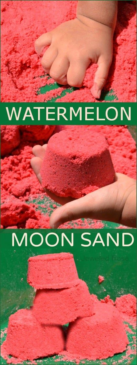 Watermelon Moon Sand Recipe- If you are unfamiliar with moon sand it is truly am...