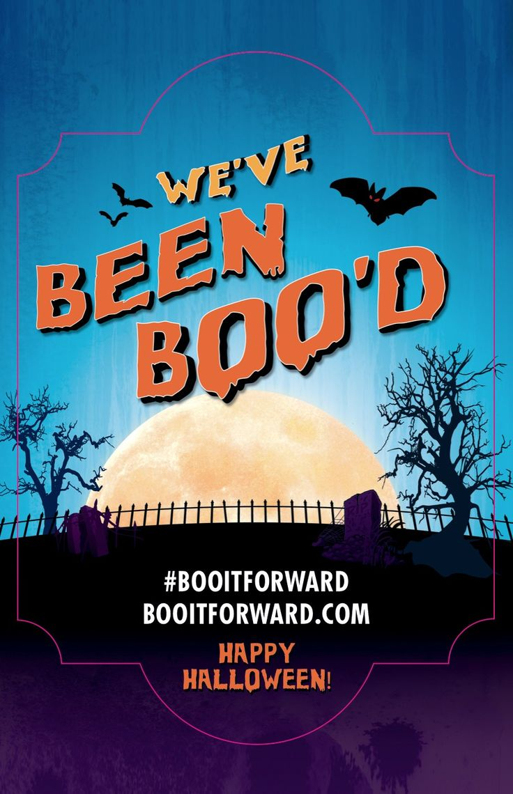 We've Been BOO'd #BooitForward