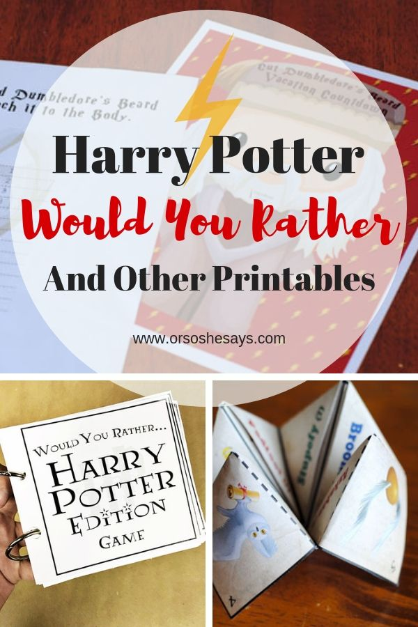 Who doesn't love Harry Potter?! Adelle is sharing a Harry Potter Would You Rathe...