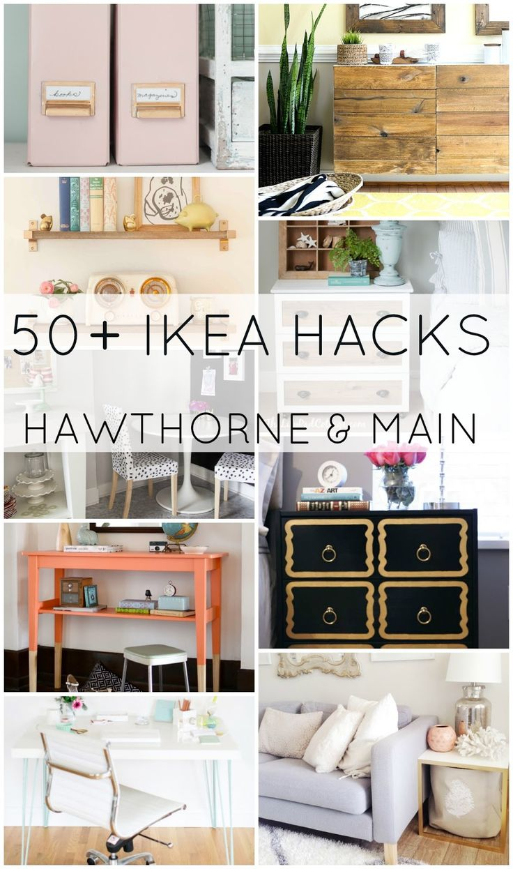 Who loves IKEA hacks!! Here is an amazing round up of ideas! I want to do all of...