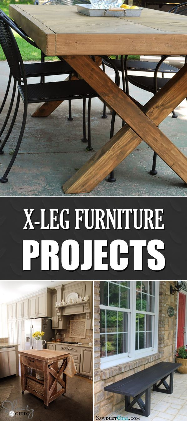 10 Awesome X-Leg DIY Furniture Projects