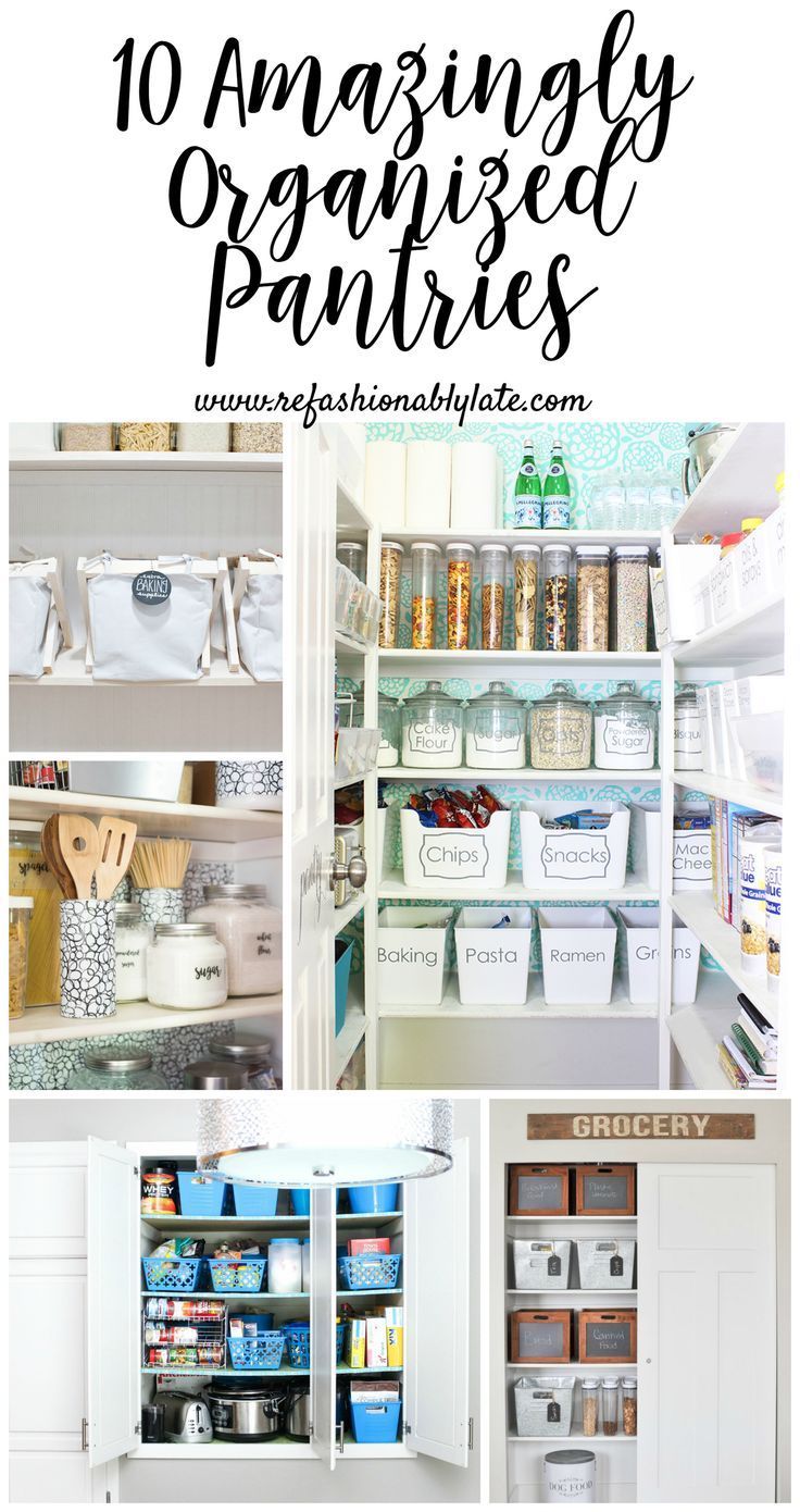 10 amazingly organized pantries for your viewing pleasure.  They aren't just org...