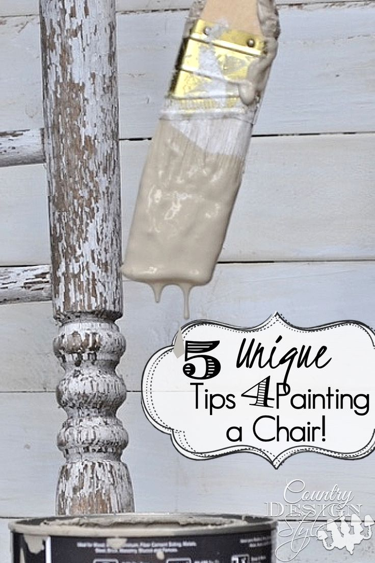 5 Chair painting tips for your diy upcycled chairs.  Plus unique tips I do when ...