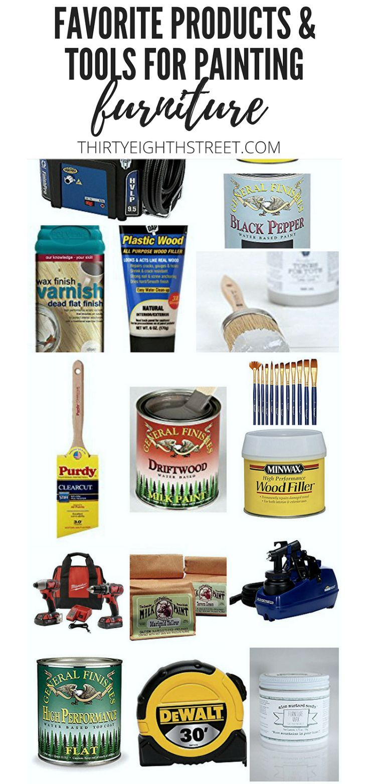 BEST Furniture Painting Products, Supplies and Tools To Refinish Furniture! Chal...