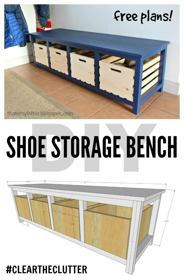Enjoyable Diy Furniture Build A Large Shoe Storage Bench Using Gmtry Best Dining Table And Chair Ideas Images Gmtryco