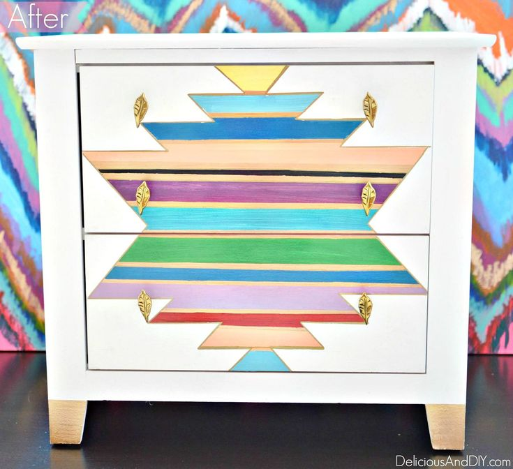 Create a stunning Southwestern Table Makeover| Use masking tape to create a gorg...