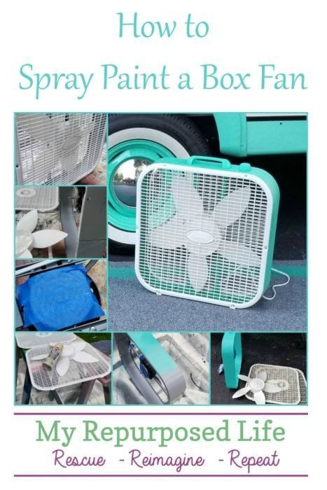 Customized Plastic Fan | Easy Spray Paint Project - My Repurposed Life®️️ #...