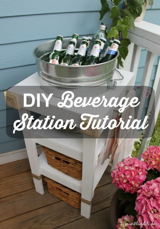 DIY Beverage Station! Easy to build and super convenient when you entertain in t...