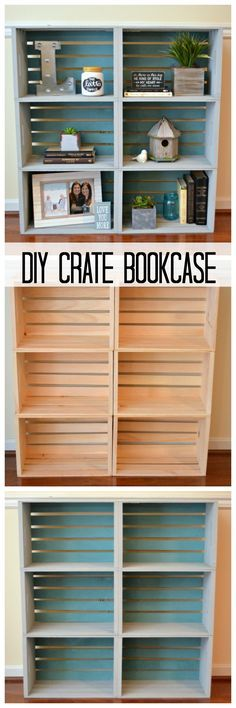 DIY Crate Bookcase More